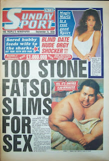 Page 3 girl Maria Whittaker on the front cover of the Sunday Sport from 11 September 1988