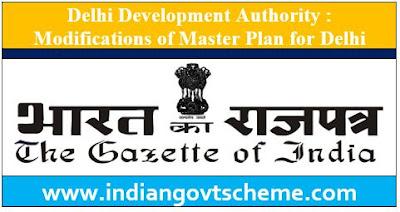 Modifications of Master Plan for Delhi