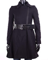 Palton Zara Dama Ava Black Collar (Z )