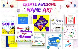 My Name Art Designs Photo Editor