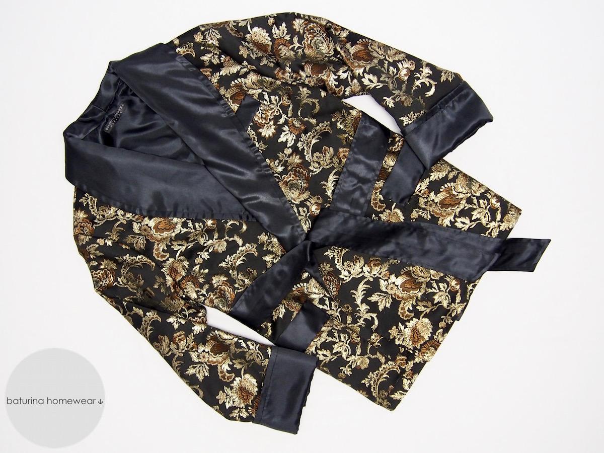 Mens black silk jacket