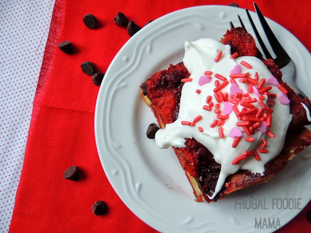 This rich, decadent Overnight Red Velvet Cake French Toast Casserole starts with your favorite red velvet cake mix, is put together the night before, and then simply popped in the oven in the next morning- a perfect Valentine's Day weekend morning treat!