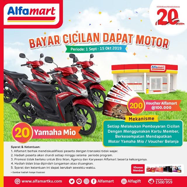 #Alfamart - #Promo Bayar Cicilan Bisa Dapat 20 Motor Yamaha Mio (s.d 15 Oktober 2019)