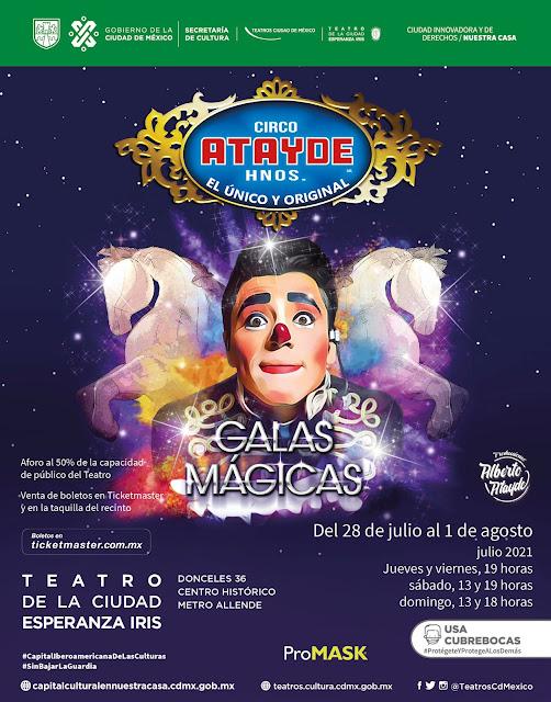 """Regresa el Circo Atayde a la CDMX con """"Galas Mágicas"""""""