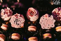 festa de 15 anos grêmio náutico união porto alegre salão foyer decoração organização e cerimonial rosa preto e cinza mesa de doces por life eventos especiais
