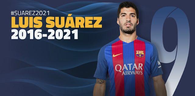 Até 2022: Suárez renovou com o Barcelona