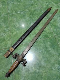 pedang naga taichi, pedang cina, pedang kuno, pedang jepang, pedang putus paku