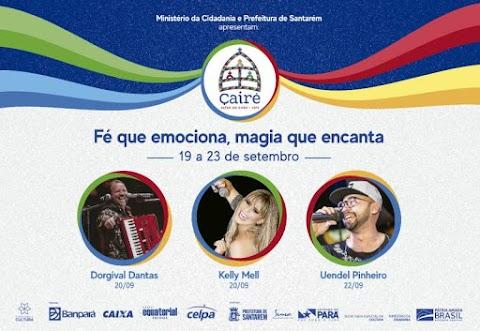 Dorgival Dantas, Festival dos Botos e Uendel Pinheiro animarão o Çairé 2019