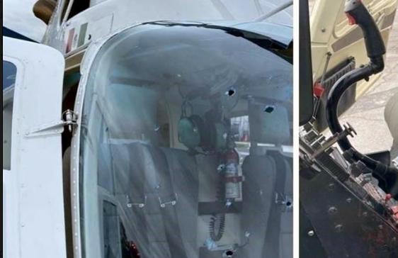 Sicarios del Cártel del Noreste desde tierra disparan a helicóptero de la Fuerza Civil de Nuevo León y logran herir a piloto