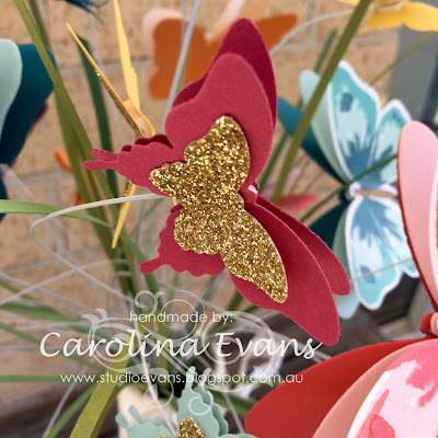 Carolina Evans Casing Patty Bennett Stampin' Up! Butterfly Bouquet 2015 2016