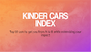 The Index of Kinder Cars: 50 engines to get you around as you do your bit to cut back #infographic