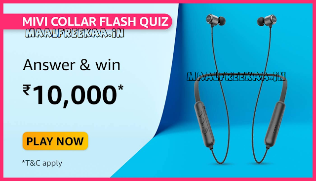 Amazon Mivi Daily Quiz Time Answer