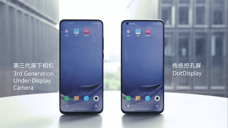 Watch: Xiaomi shows its 3rd Generation Under-Display Camera Technology