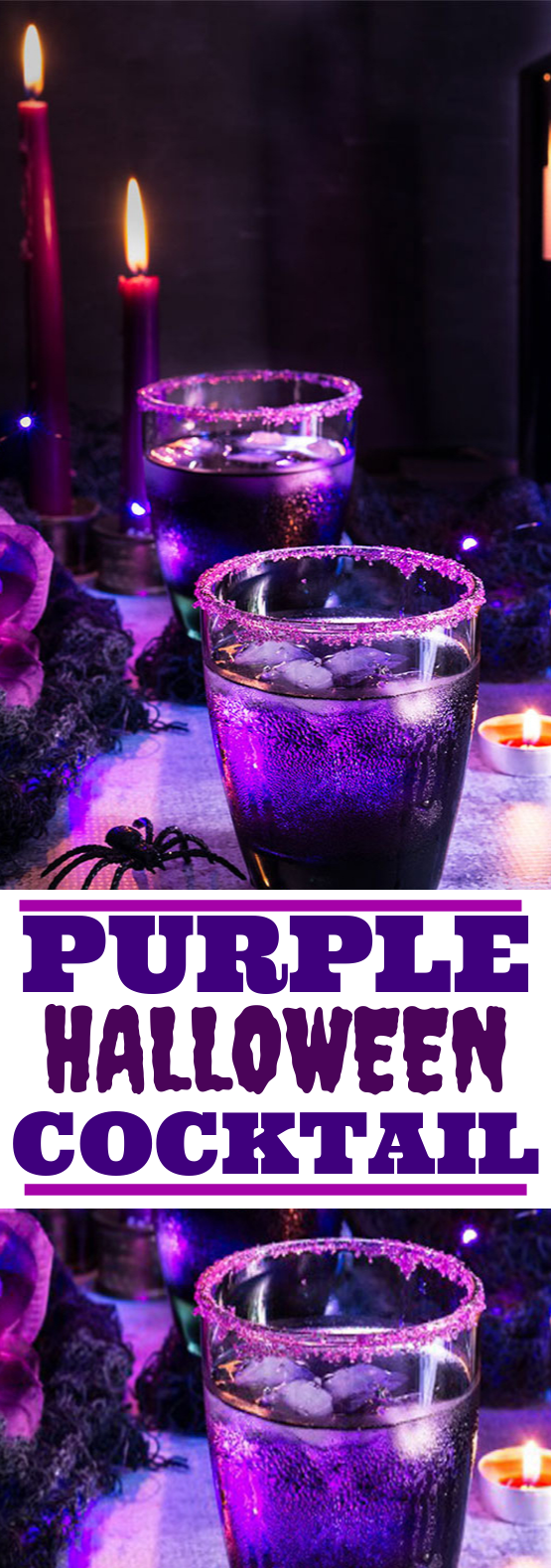 Purple Halloween Cocktail #drinks #cocktails