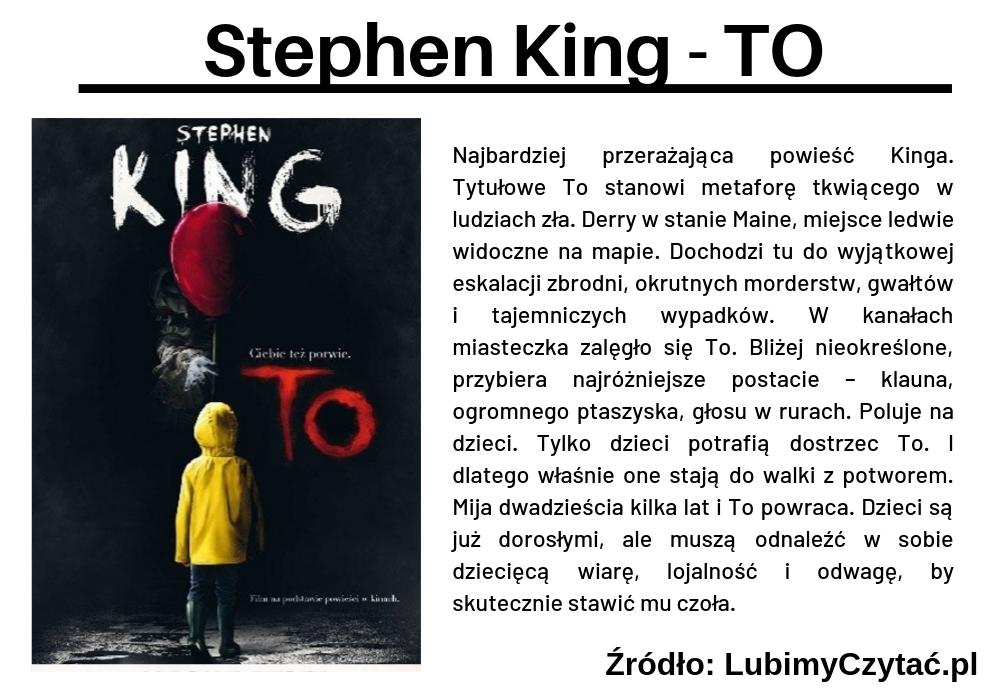 Stephen King - TO, Topki, Marzenie Literackie