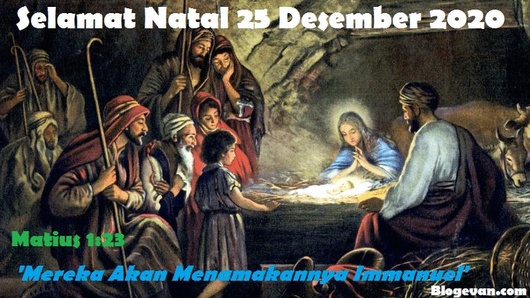 Bacaan injil natal, renungan natal, hari natal, hari raya natal, 25 desember 2020