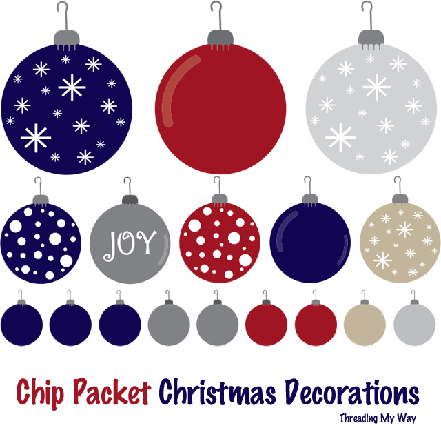 Make Christmas decorations from Chip Packets ~ Threading My Way