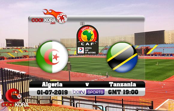 مشاهدة مباراة الجزائر وتنزانيا اليوم 1-7-2019 علي بي أن ماكس كأس الأمم الأفريقية 2019