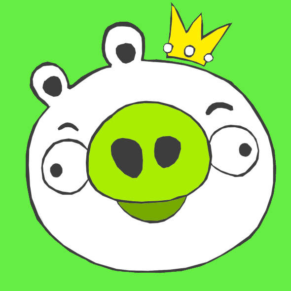 King Pig Cartoon Wallpaper quot Angry