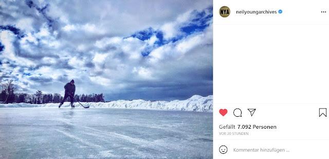 Neil Young Hockey Instagram