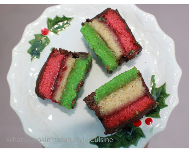 this is an Italian rainbow cookie recipe