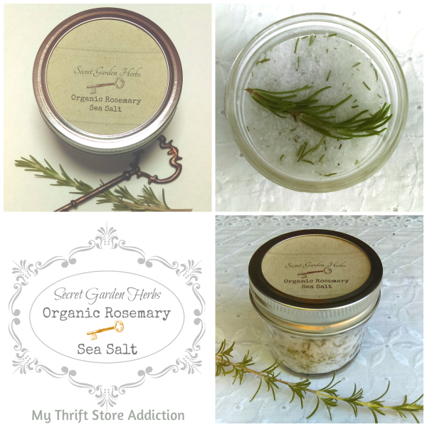 Organic rosemary sea salt available at Secret Garden Herbs