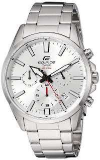 Casio Men's Edifice Quartz Watch with Stainless-Steel Strap, Silver,20