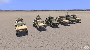 Arma3へ車両追加MODのMRAP の RG-31 Nyala