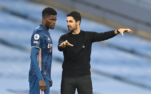 Thomas Partey missing in action in Arsenal's 3 - 0 victory over Dundalk FC