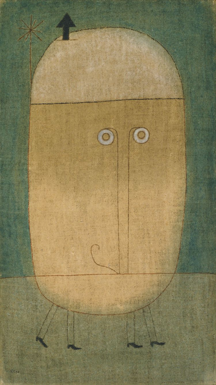 Máscara del miedo. Paul Klee. 1932, Óleo sobre yuta, 100.4x57.1 cm. Nueva York, Museo de Arte Moderno.