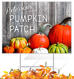 Pumpkin Patch Lawn Sign | Lawnsigns.com