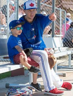 Danyll Gammon's hubby Troy with son Taz Tulowitzki