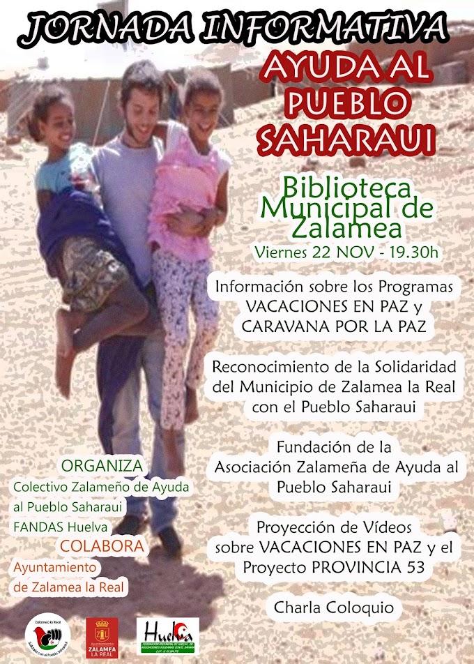 Zalamea la Real (Huelva) acogerá una Jornada dedicada a la Solidaridad con el Pueblo Saharaui.
