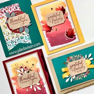 8 August 2019 Gift of Fall Alternative Paper Pumpkin Projects ~ Stampin' Up! subscription kits ~ www.juliedavison.com