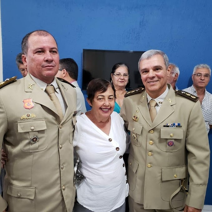 Perfeita Cecília participou da solenidade de transmissão de comando do 6° Batalhão em Senhor do Bonfim!