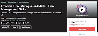 [100% Off Udemy Course] Effective Time Management Skills
