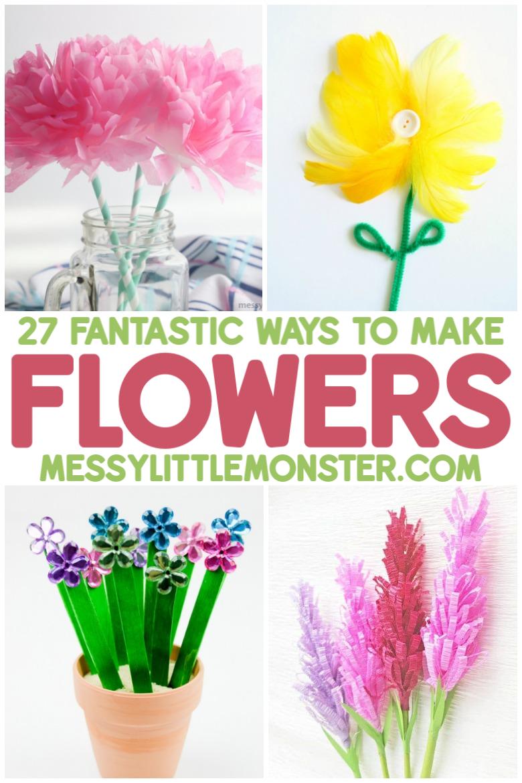 27 ways to make flower crafts for kids