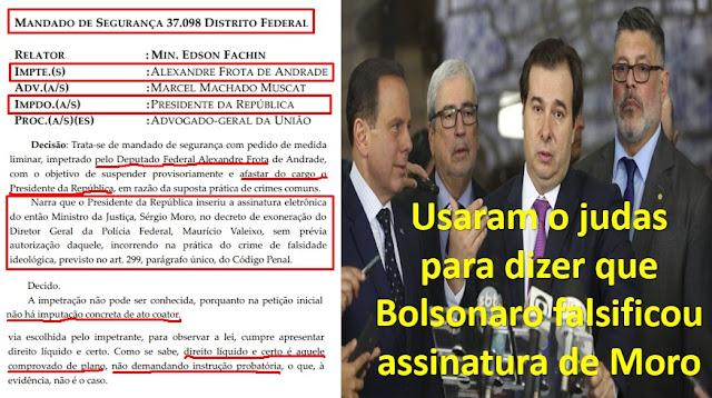 URGENTE!! STF rejeita acusações de Moro em MS de Alexandre Frota