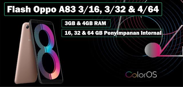 Cara Flash Oppo A83 3/16, 3/32 & 4/64 Tanpa PC Lengkap dan Mudah