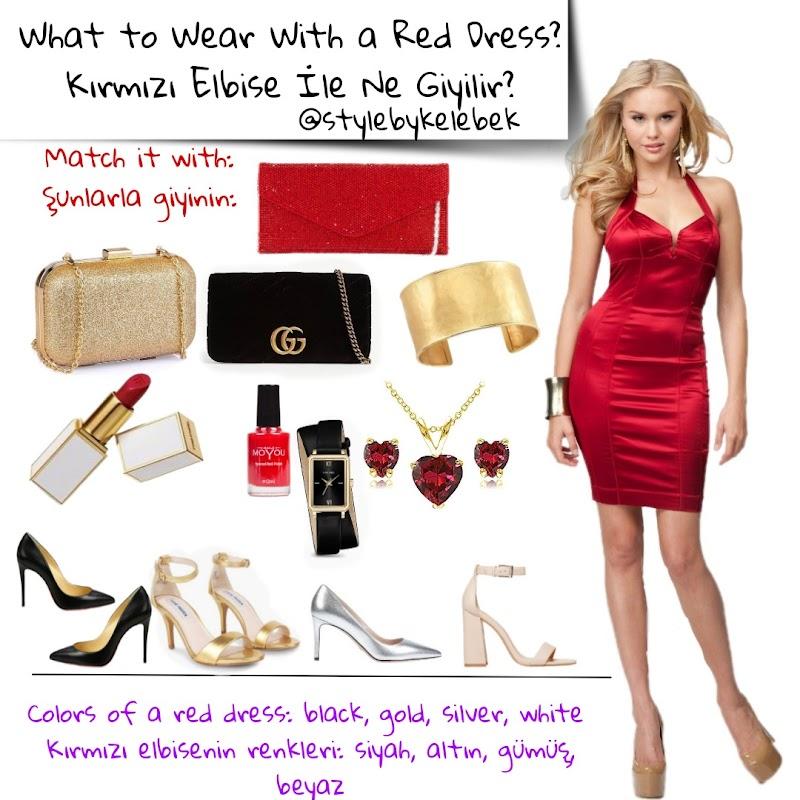 Kırmızı Elbiseye Hangi Renk Çanta Uygundur? Kırmızıyla Kullanılacak Renkler