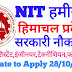NIT Hamirpur Himachal Pradesh Recruitment for Technical and Ministerial Staff