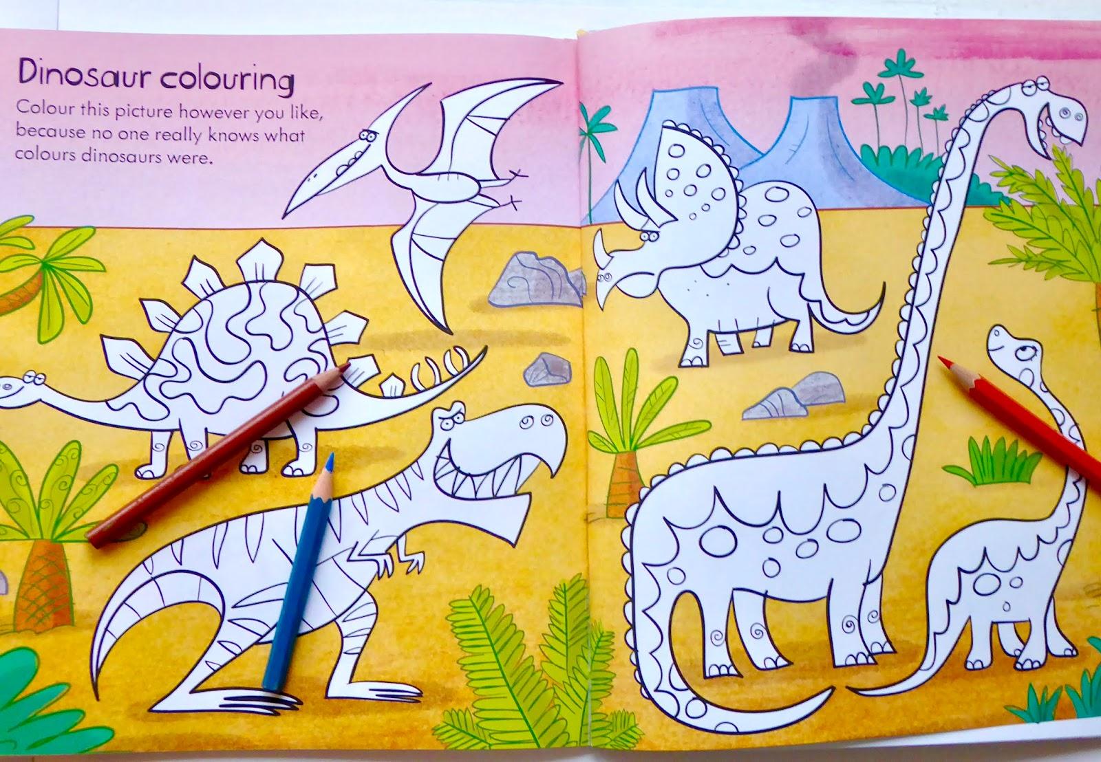 The Usborne Little Children S Dinosaur Activity Book