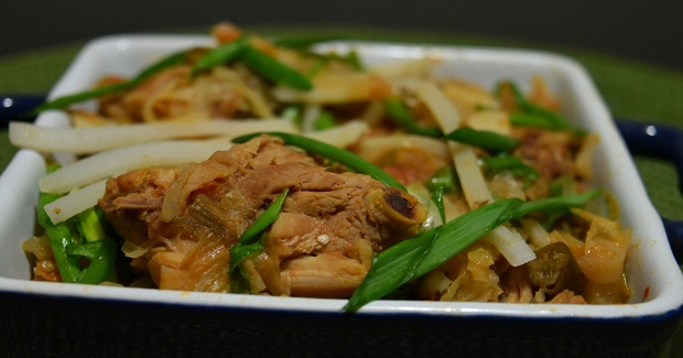 Naga Style Chicken With Bamboo Shoot Recipe