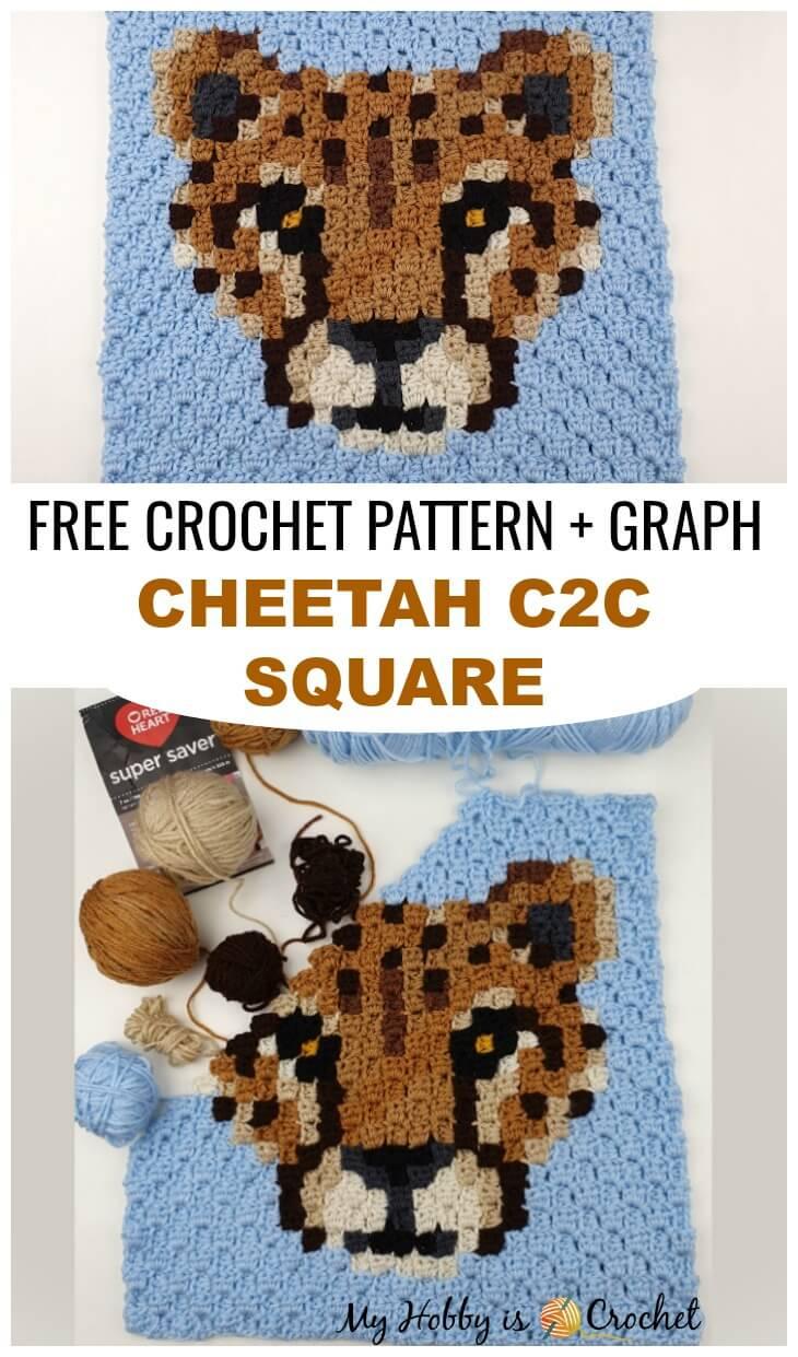 Cheetah C2C Square Free Crochet Pattern