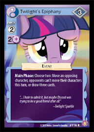 My Little Pony Twilight´s Epiphany Absolute Discord CCG Card