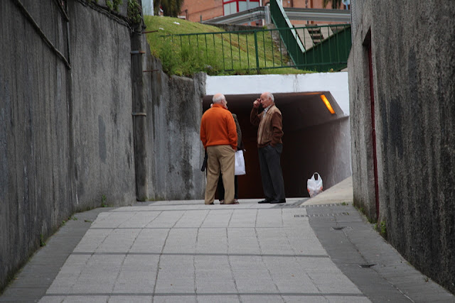 Uno de los túneles en Burtzeña