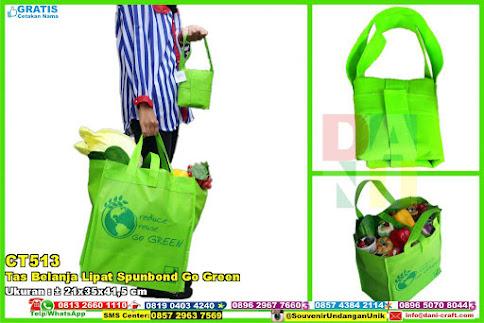 Tas Belanja Lipat Spunbond Go Green