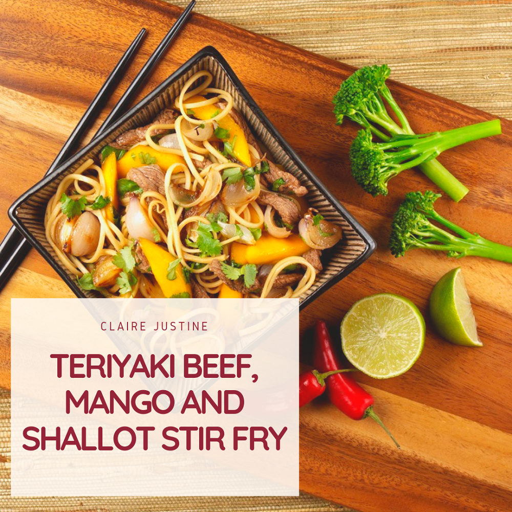Teriyaki Beef, Mango And Shallot Stir Fry