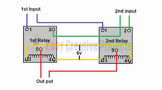 Circuit diagram of automatic line changer switch