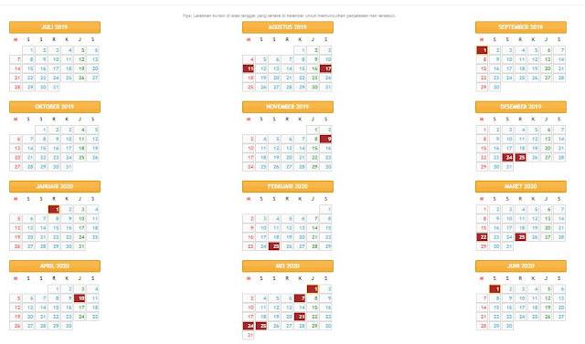 Kalender Pendidikan Tahun Ajaran 2019/2020 Provinsi Sumatera Utara